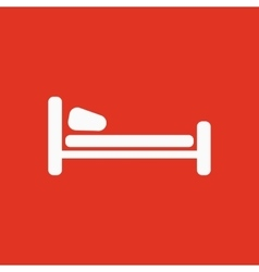 The bed icon Hotel symbol Flat vector image vector image