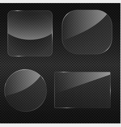 transparency glass frame vector image