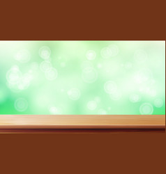 Wood table top blur spring green vector