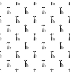 Hammer and nails pattern simple style vector