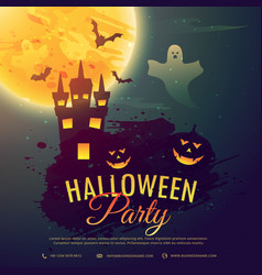 Halloween celebration party background vector