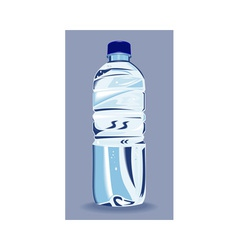 Plastic water bottle container vector