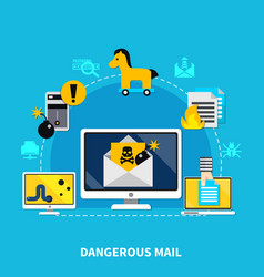 Dangerous mail design concept vector