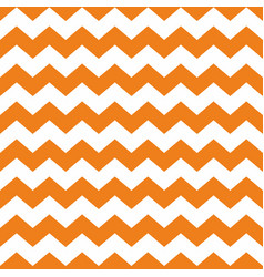 tile chevron pattern with orange and white zig zag vector image