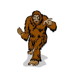 Big foot pointing vector