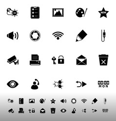 General computer screen icons on white background vector
