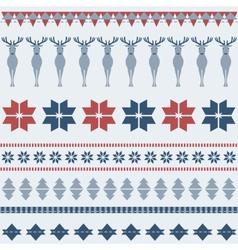 Winter ornamental pattern with deer vector image