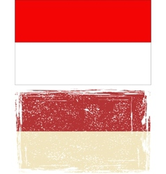Indonesian grunge flag vector