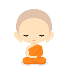 Buddhist monk character design vector