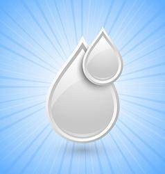 Milk drops icon vector image