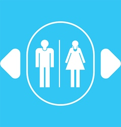 Restroom sign icon vector