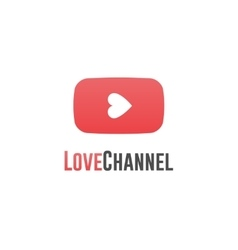 Love channel logo online tv concept vector