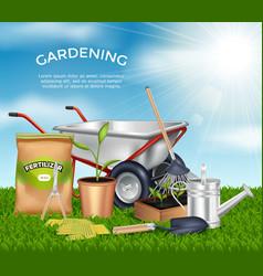 Gardening Tools Design Concept Set vector image