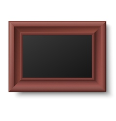 Classic horizontal wooden frame vector