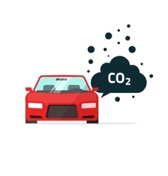Co2 emissions  car carbon vector