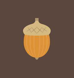 acorn icon vector image vector image