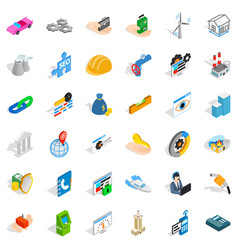 Adress icons set isometric style vector