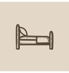Bed sketch icon vector image vector image