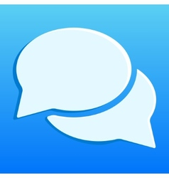 Blue chat icon vector