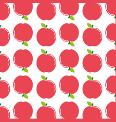 Delicious apple fruit taste background icon vector