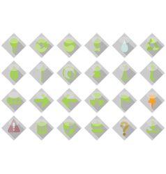 Eco web Icons Set vector image vector image