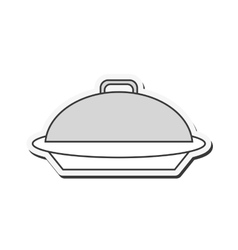 elegant food tray icon vector image