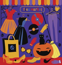 Halloween holiday market vector