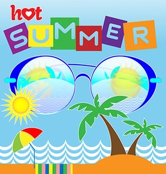 Hot Summer Card vector image