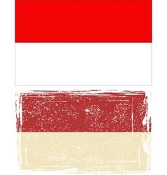 Indonesian grunge flag vector