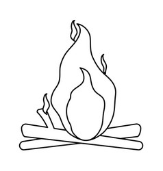 Isolated bonfire icon image vector
