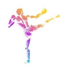 Kick boxer vector