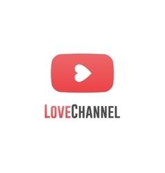 Love channel logo online TV concept vector image
