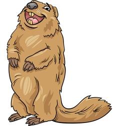 Marmot animal cartoon vector