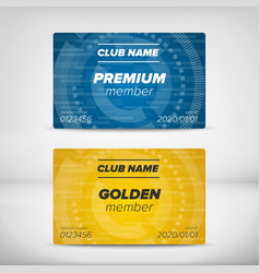 Member card templates vector image