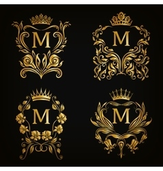 Monogram Logos Set vector image vector image
