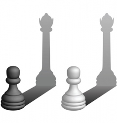pawns to queens vector image vector image