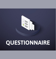 Questionnaire isometric icon isolated on color vector