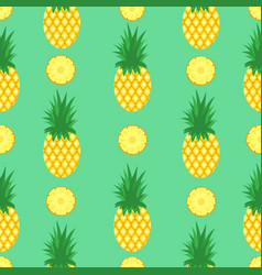 seamless pattern with pineapples and pineapple vector image