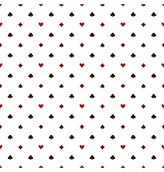 Seamless poker pattern with card suits vector