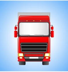 shipping truck on sky background vector image