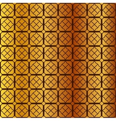 Square pattern on gold background vector