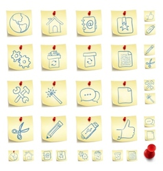 sticker icon set vector image