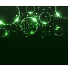 stylized glowing background with digital symbols vector image vector image