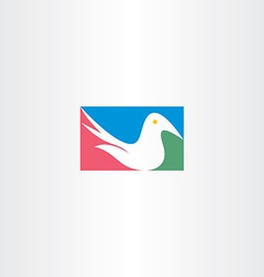 white dove logo icon design vector image