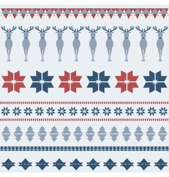 Winter ornamental pattern with deer vector