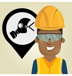 Worker protection industrial vector
