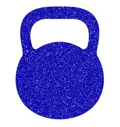 weight iron icon grunge watermark vector image