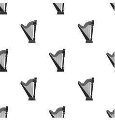 Harp icon in black style isolated on white vector