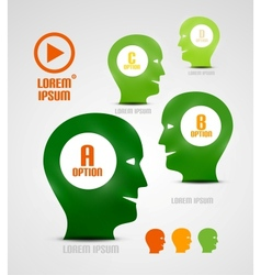 head and ideas presentation template vector image