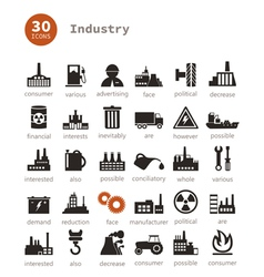 Industrial icons9 vector